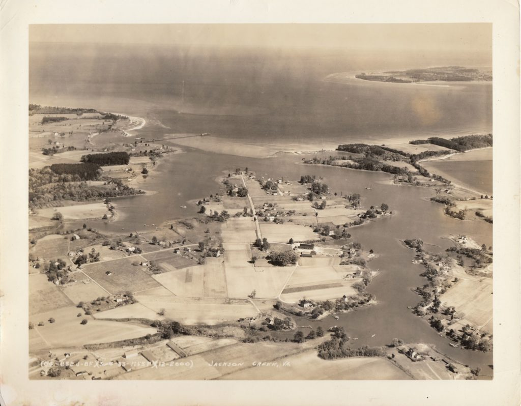 Jackson Creek | Deltaville, Virginia | 1930 Aerial View