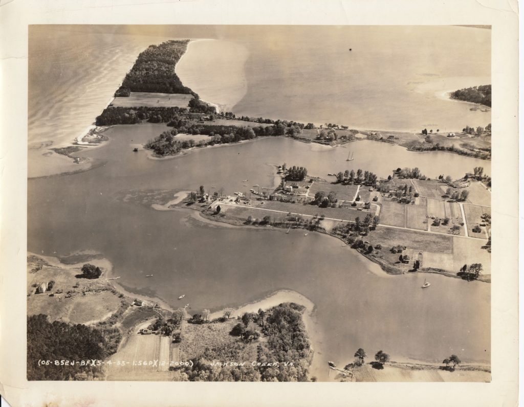 Jackson Creek | Deltaville, Virginia | 1930 Aerial View