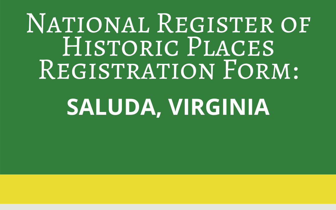 Registering Saluda in National Register of Historic Places