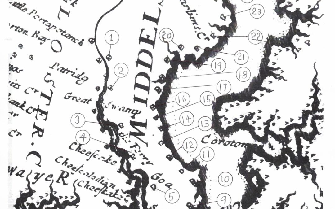 Two Local History Stories Collide – Al Gore & The 1670 Map of Middlesex County